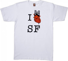 SuperFishal - I Heart SF 2 Men's Shirt, White - The Giant Peach