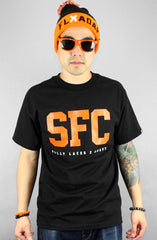 Adapt x Fully Laced - SFC Men's Shirt, Black / Orange - The Giant Peach