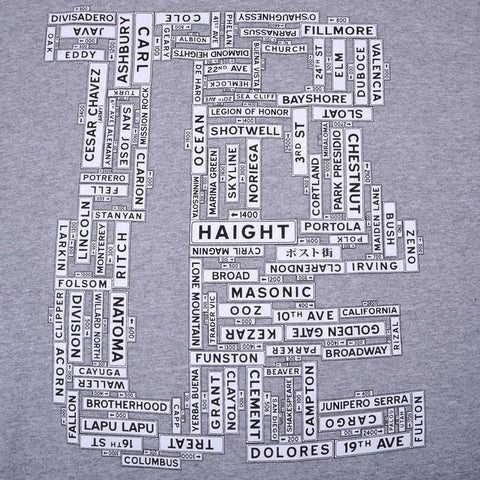 TRUE - Street Signs Men's Shirt, Heather Gray