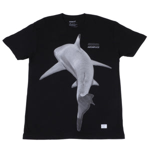 Akomplice - Killer Shark Men's Tee, Black - The Giant Peach