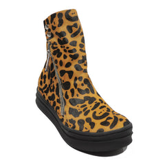 Jeffrey Campbell - Sci-Fi Fur Women's Sneaker, Tan Black Leopard - The Giant Peach - 2