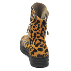 Jeffrey Campbell - Sci-Fi Fur Women's Sneaker, Tan Black Leopard - The Giant Peach - 3