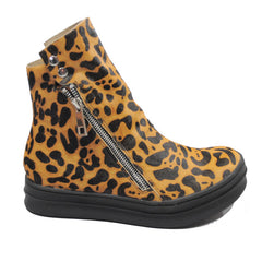 Jeffrey Campbell - Sci-Fi Fur Women's Sneaker, Tan Black Leopard - The Giant Peach - 1