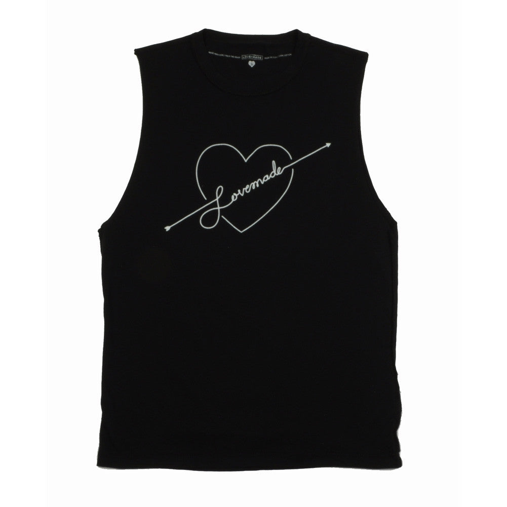 Lovemade - Shot to the Heart Women's Tee, Black - The Giant Peach - 2