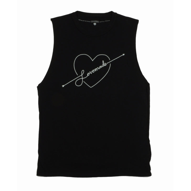 Lovemade - Shot to the Heart Women's Tee, Black - The Giant Peach