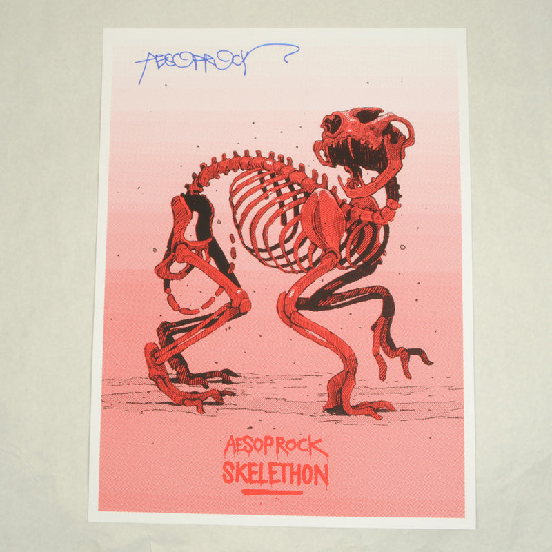 Aesop Rock - Skelethon Poster (autographed) - The Giant Peach