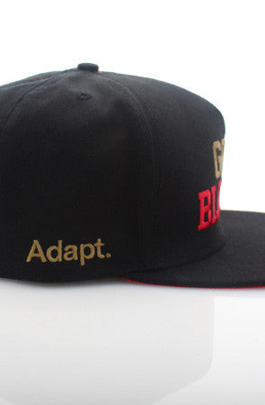 Adapt - Gold Blooded Snapback Hat, Black - The Giant Peach