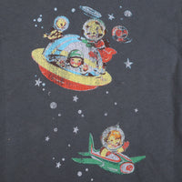 made U look - Space Infant & Toddler L/S Tee, Charcoal Gray - The Giant Peach