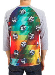 Imaginary Foundation -  Spectrum Men's Baseball Shirt, Heather