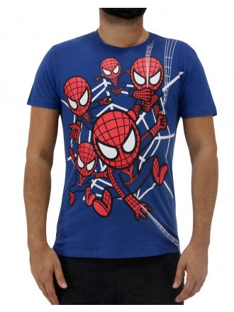 tokidoki TKDK - Spidey Chaos Men's Shirt, Navy - The Giant Peach