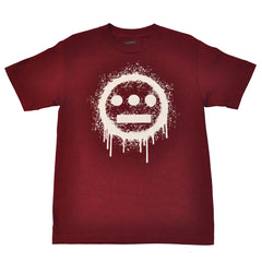 delHIERO - Splatter Men's Shirt, Burgundy - The Giant Peach - 1