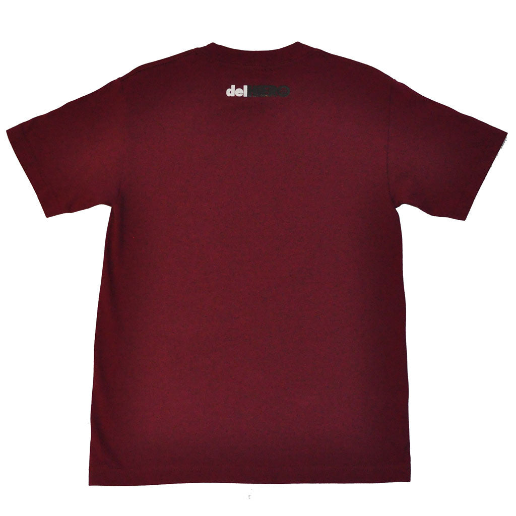 delHIERO - Splatter Men's Shirt, Burgundy - The Giant Peach - 2