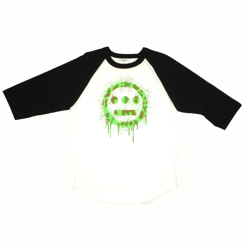 delHIERO - Splatter  Men's Raglan Shirt, Black - The Giant Peach