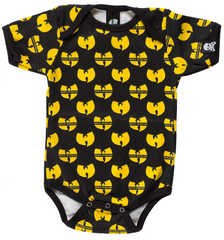 Wu-tang Clan All-Over Print Infant One Piece, Black - The Giant Peach