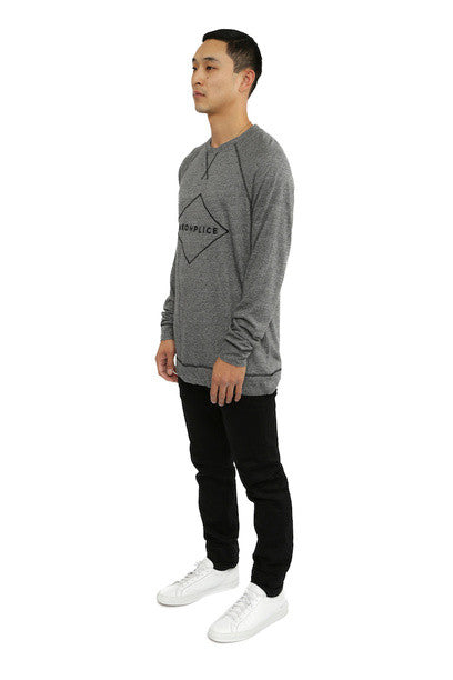 Akomplice -  Sport Raglan Men's Crew, Grey - The Giant Peach