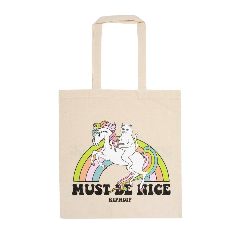 RIPNDIP - My Little Nerm Tote Bag, Natural Canvas