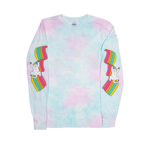 RIPNDIP - My Little Nerm Men's L/S Tee, Cotton Candy Tie Dye