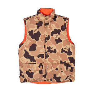 RIPNDIP - Nerm Camo Desert Camo Men's Reversible Vest, Camo/Orange