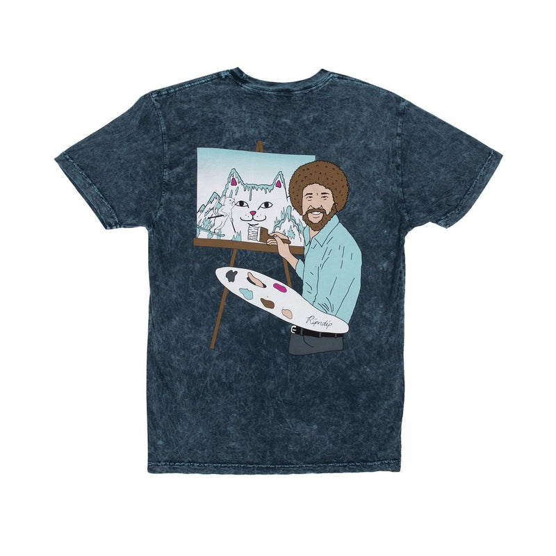 RIPNDIP - Ross Men's Tee, Blue Mineral Wash