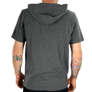 Akomplice VSOP - Hooded Men's Shirt, Dark Heathered Grey - The Giant Peach