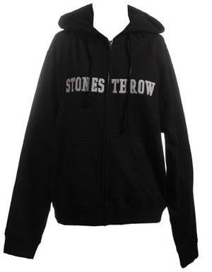 Stones Throw - Women's Applique Zip Hoodie, Black - The Giant Peach