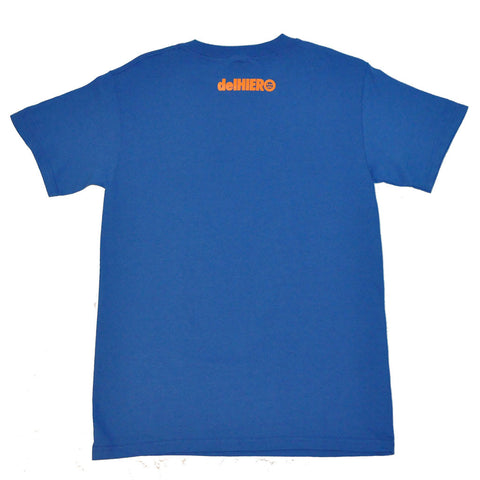 delHIERO - Stacked Men's Shirt, Royal/Orange