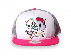 tokidoki - Star Bright Mesh Trucker, White - The Giant Peach - 1