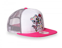 tokidoki - Star Bright Mesh Trucker, White - The Giant Peach - 5