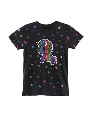 tokidoki - Star Studded Women's  Boy Fit Tee, Black