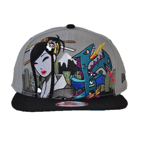 tokidoki - Starstrike Snapback Hat, Grey - The Giant Peach - 1