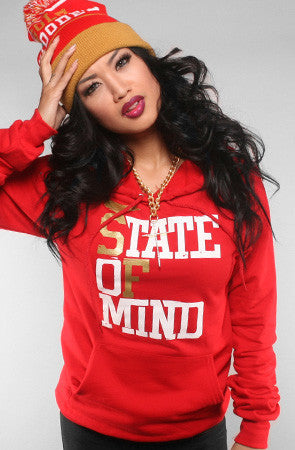 Adapt - State of Mind Women's Hoodie, Red/Gold