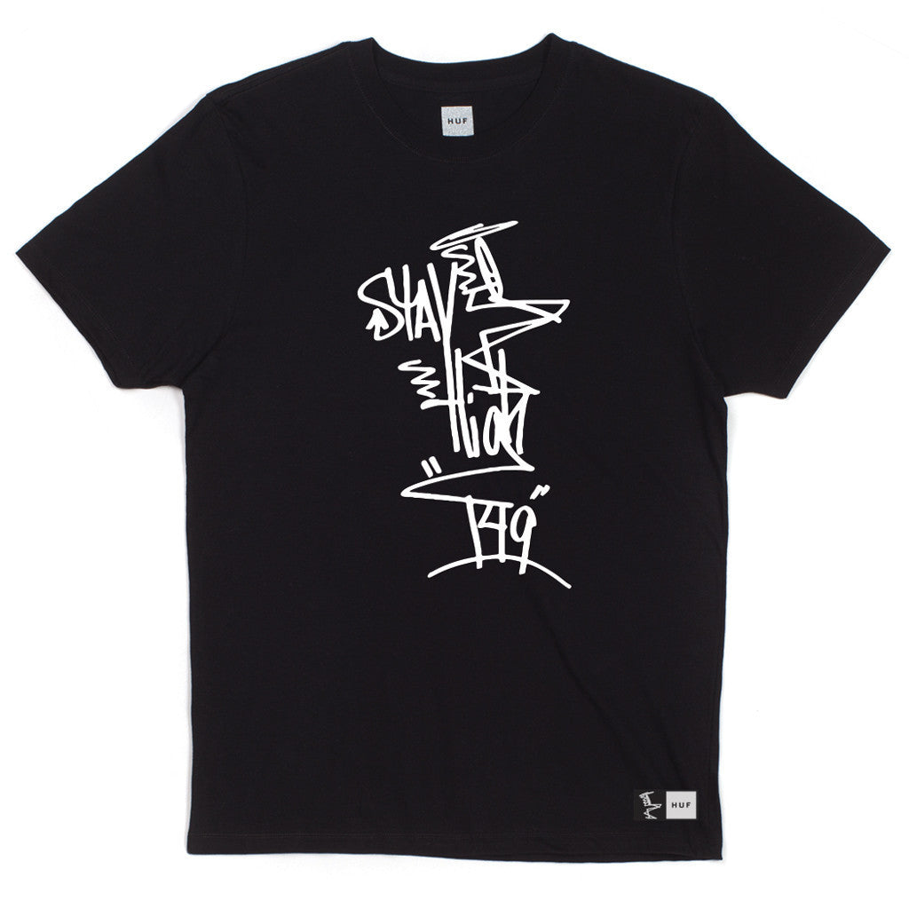 HUF - HUF x Stay High 149 Full Tag Men's Tee, Black - The Giant Peach
