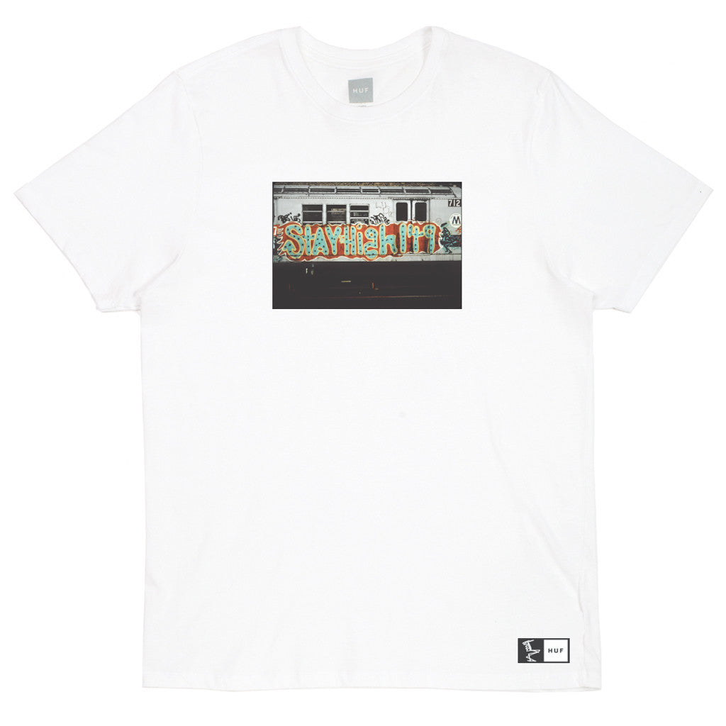HUF - HUF x Stay High 149 Mass Transit Men's Tee, White - The Giant Peach