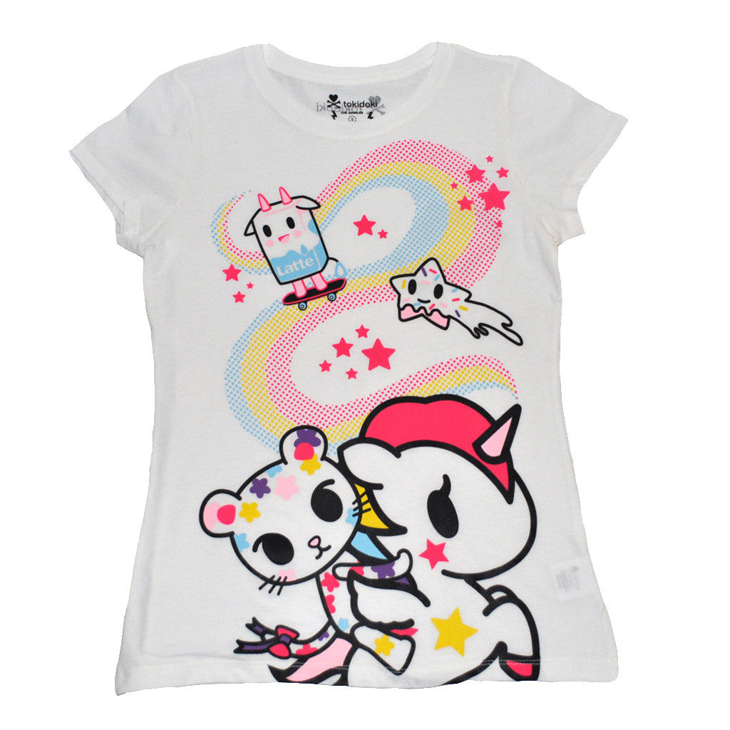 tokidoki - Stellar Women's Tee, White - The Giant Peach