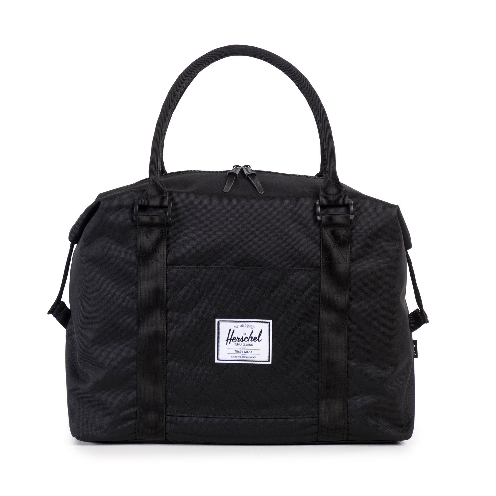 Herschel Supply Co. - Strand Duffle, Black Quilted - The Giant Peach - 1