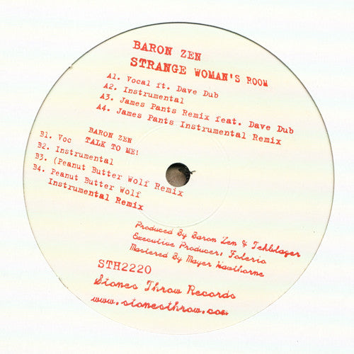 "Baron Zen - Strange Woman's Room, 12"" Vinyl - The Giant Peach"