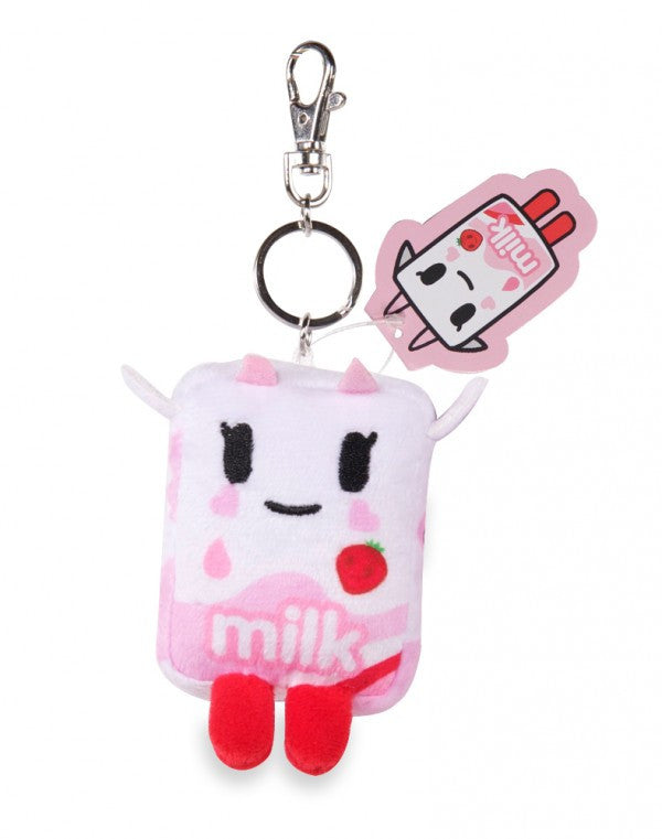 tokidoki - Strawberry Milk Moofia Plush Keychain - The Giant Peach
