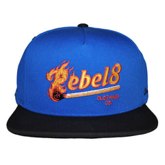 REBEL8 - Strike First Snapback Hat, Royal - The Giant Peach - 1