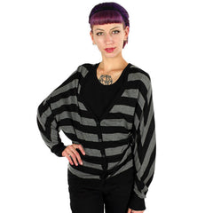 Nixon - Runaway Women's Cardigan, Black/Charcoal - The Giant Peach