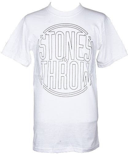Stones Throw - Outline Logo Shirt, White - The Giant Peach