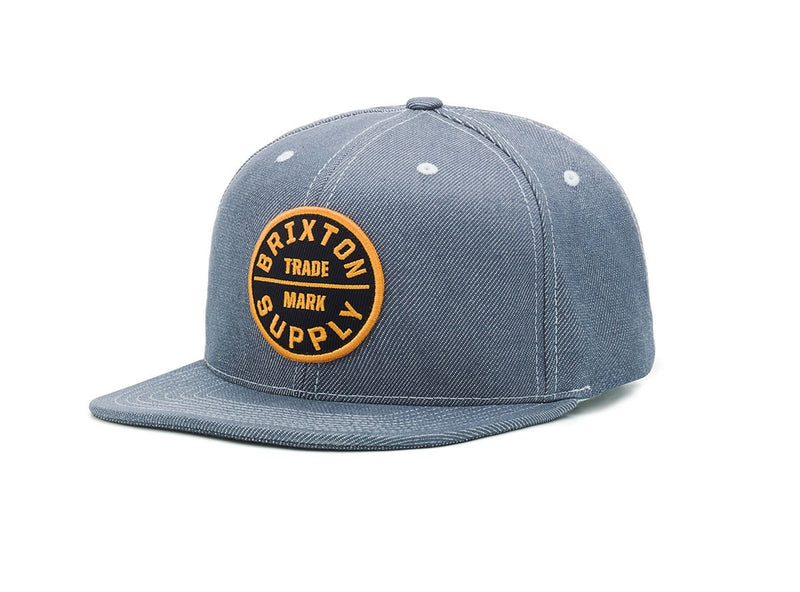 Brixton - Oath III Men's Snapback Hat, Light Blue - The Giant Peach