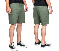 Brixton - Madrid Relaxed Fit Men's Drawstring Shorts, Cypress - The Giant Peach
