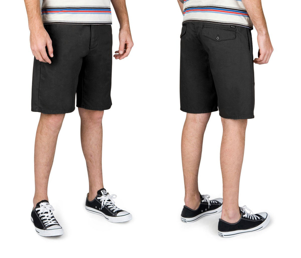 Brixton - Carter Relaxed Fit Men's Chino Shorts, Black - The Giant Peach