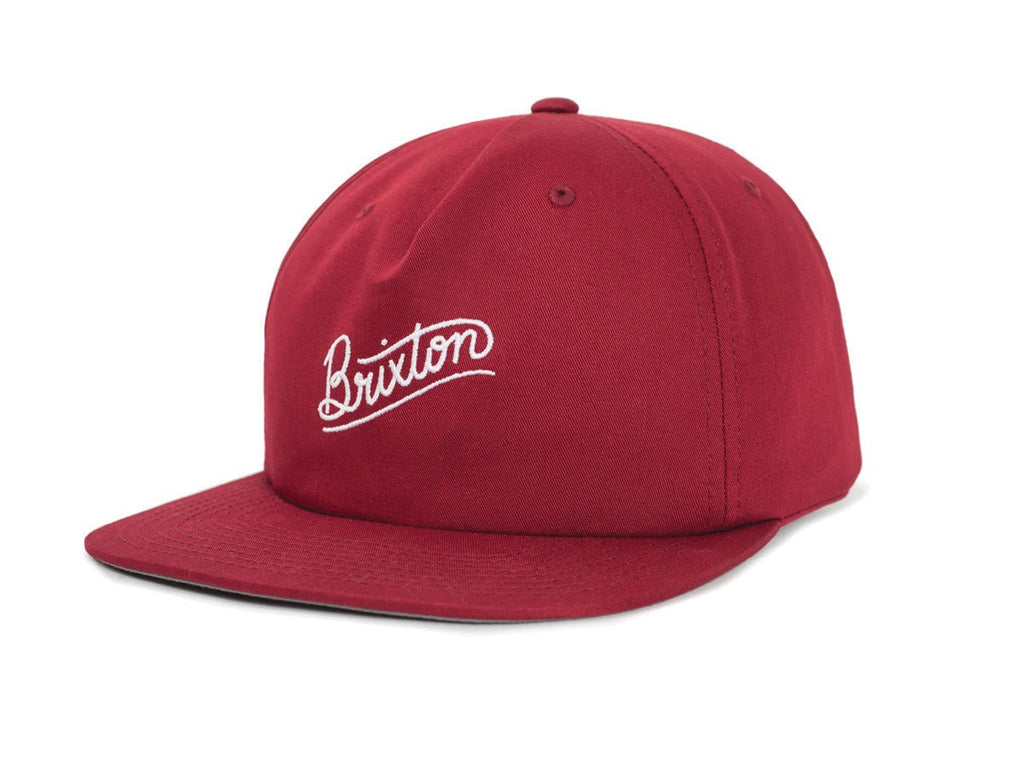 Brixton - Sunder Men's Snapback, Burgundy/White - The Giant Peach