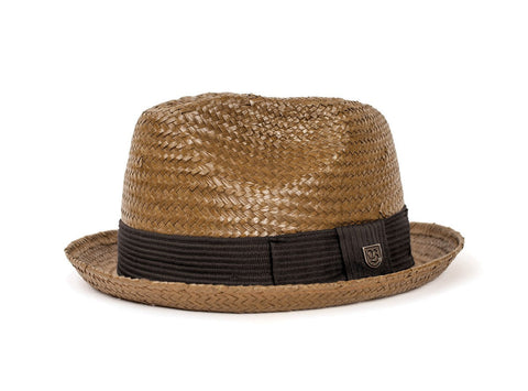 Brixton - Castor Fedora, Light Brown - The Giant Peach