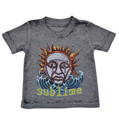 Sublime - Logo Toddler Tee, Distressed Grey - The Giant Peach