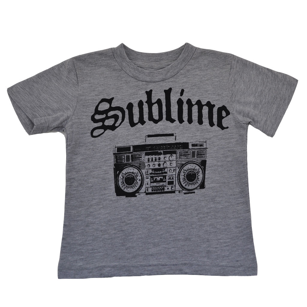Sublime - Boombox Toddler Tee, Heather Grey - The Giant Peach