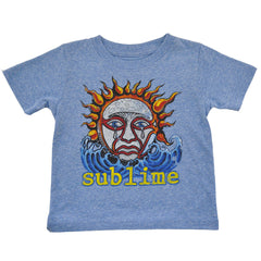 Sublime - Logo Toddler Tee, Heather Blue - The Giant Peach