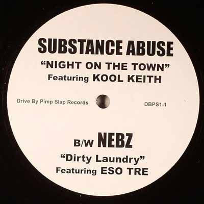 "Substance Abuse feat. Kool Keith - ""Night On The Town"" b/w ""Dirty Laundry"", 12"" Vinyl - The Giant Peach"