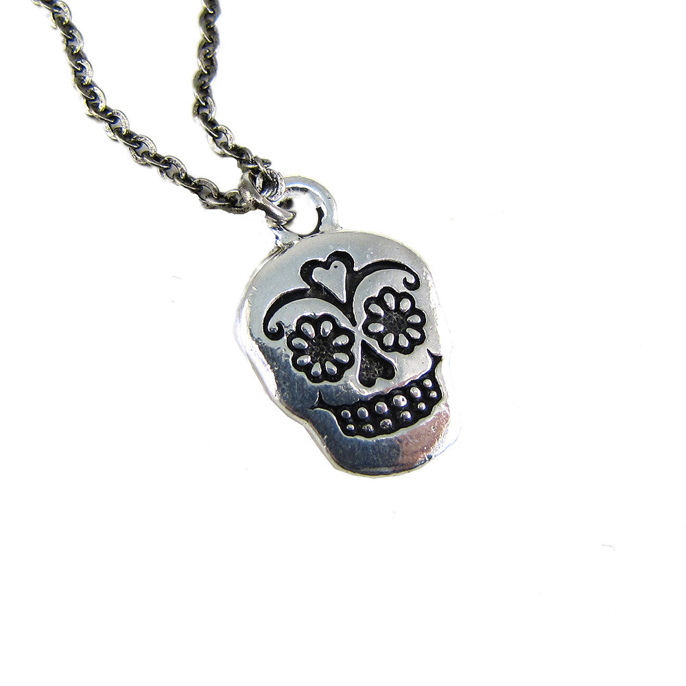 sterling sugar skull fancy pendant silver oblacoder large necklace